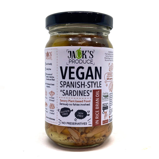 "Jack's Produce Spanish-Style ""Sardines"" in Rice Bran Oil 225g"
