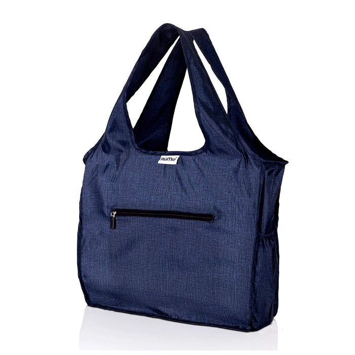 Rume Foldable Zippered Tote Heather Denim