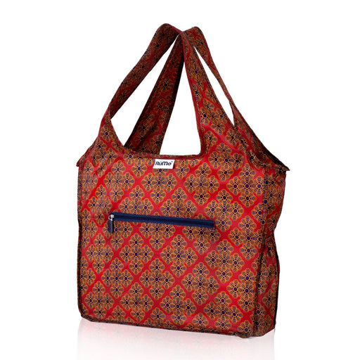 Rume Foldable Zippered Tote Spruce