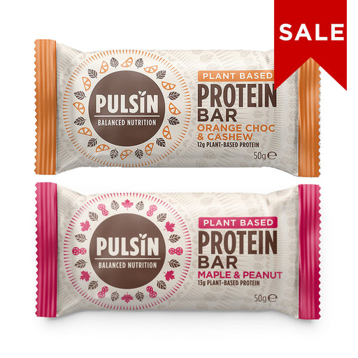 Pulsin Protein Bar Bundle 1: Maple Peanut & Orange Choc Chip 50g