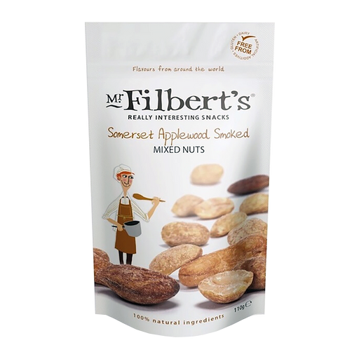 Mr Filbert's Somerset Applewood Smoked Mixed Nuts 110g