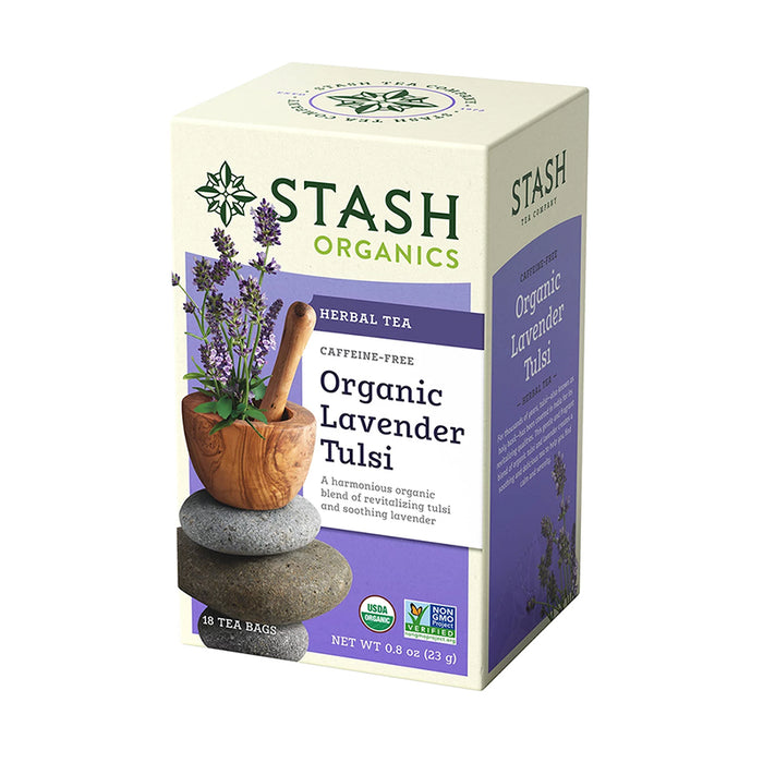 Stash Tea Organic Lavender Tulsi Herbal Tea (18 bags)