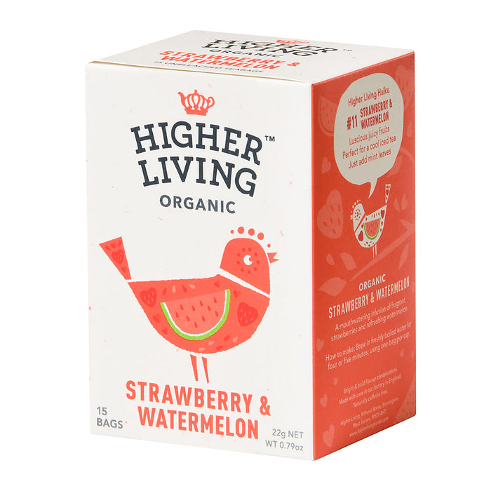 Higher Living Organic Strawberry & Watermelon (15 bags / 22g)