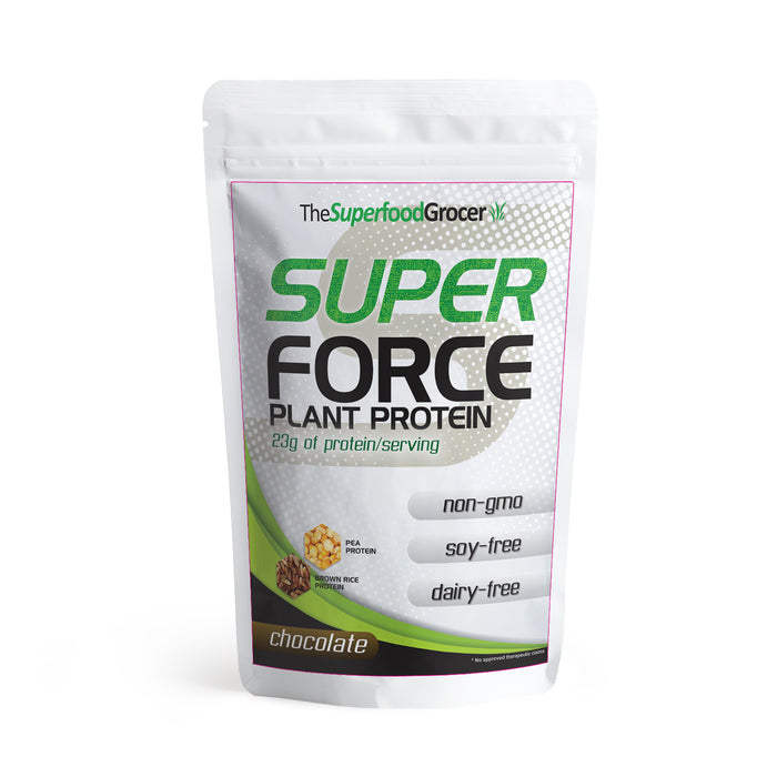 The Superfood Grocer Superforce Plant Protein (Chocolate) 227g (1/2 lbs)