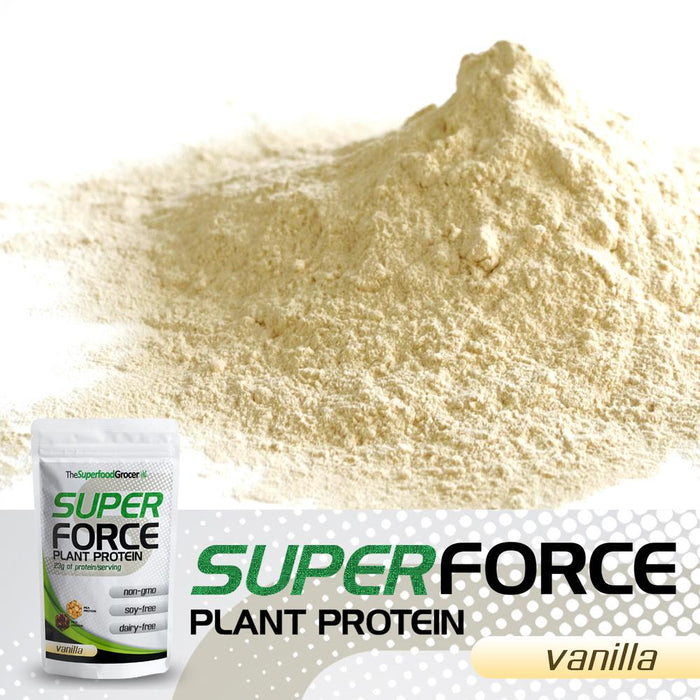 The Superfood Grocer Superforce Plant Protein (Vanilla) 227g (1/2 lbs)