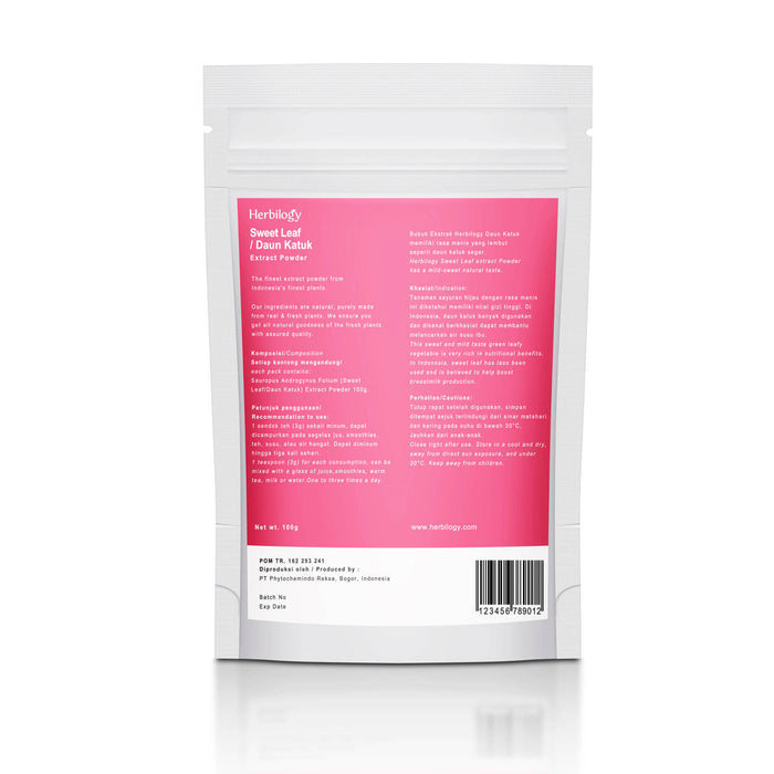 Herbilogy Sweet Leaf Extract Powder 100g