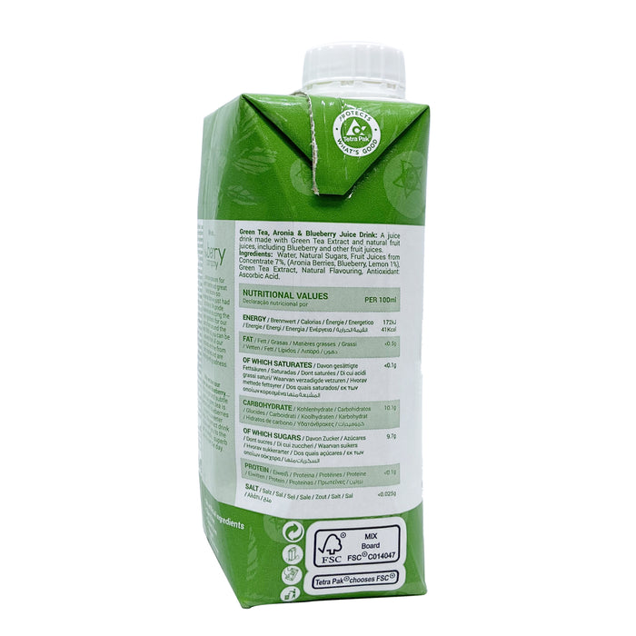 The Berry Company Green Tea Blueberry Juice 330ml