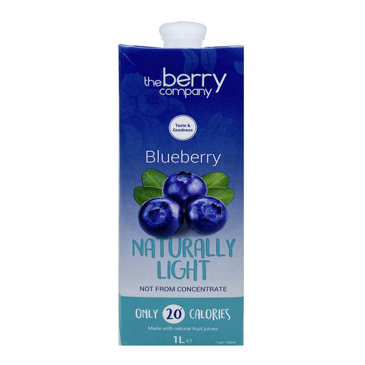 The Berry Company Naturally Light Blueberry Juice 1L