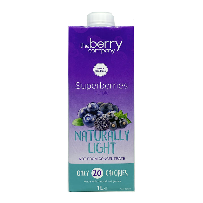 The Berry Company Naturally Light Superberries Purple Juice 1L