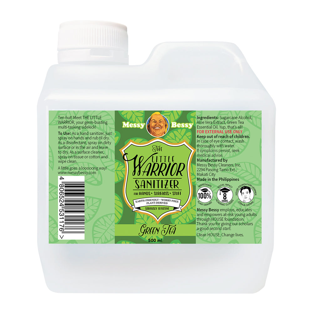 Messy Bessy The Little Warrior Green Tea 500ml Refill