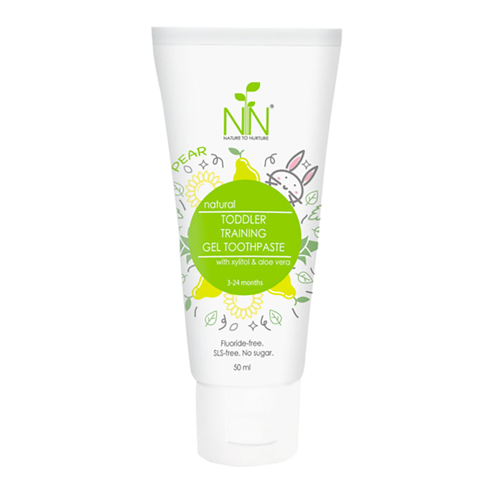 Nature to Nurture Toddler Training Gel Toothpaste, 3 Months To 2 Years Old (Pear) 50ml
