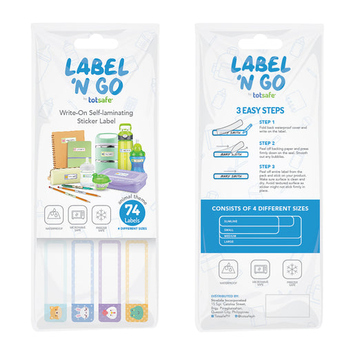 Totsafe Label N' Go (set of 74 stickers)