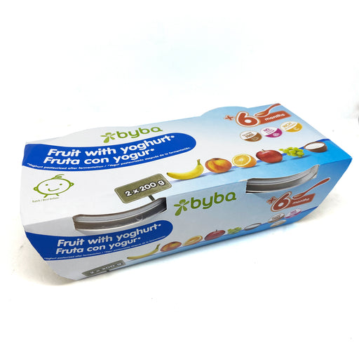 Byba Tubs Fruit with Yoghurt 2 x 200g (6+ mos)