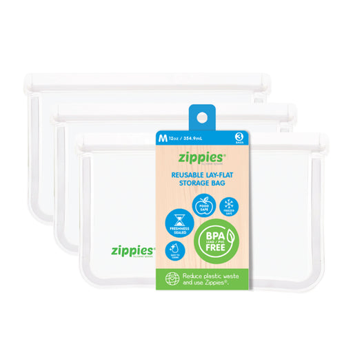 Zippies Reusable Lay Flat Storage Bag Medium 12oz