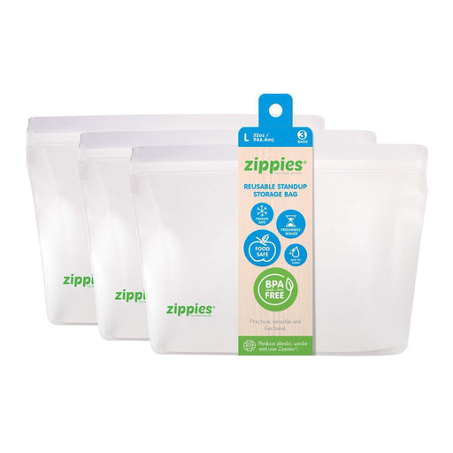 Zippies Reusable Stand Up Storage Bag Large 32oz