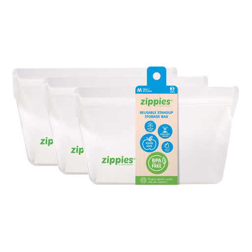 Zippies Reusable Stand Up Storage Bag Medium 16oz
