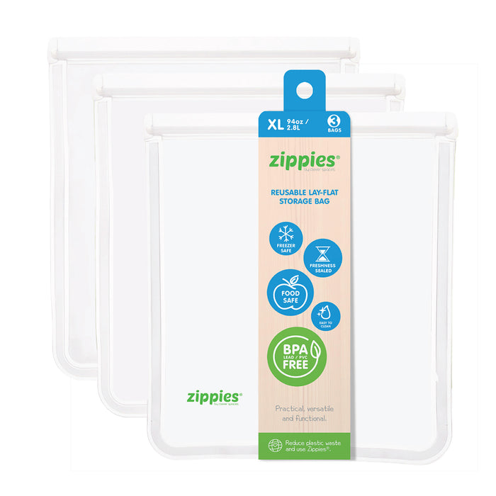 Zippies Reusable Lay Flat Storage Bag XL 94oz