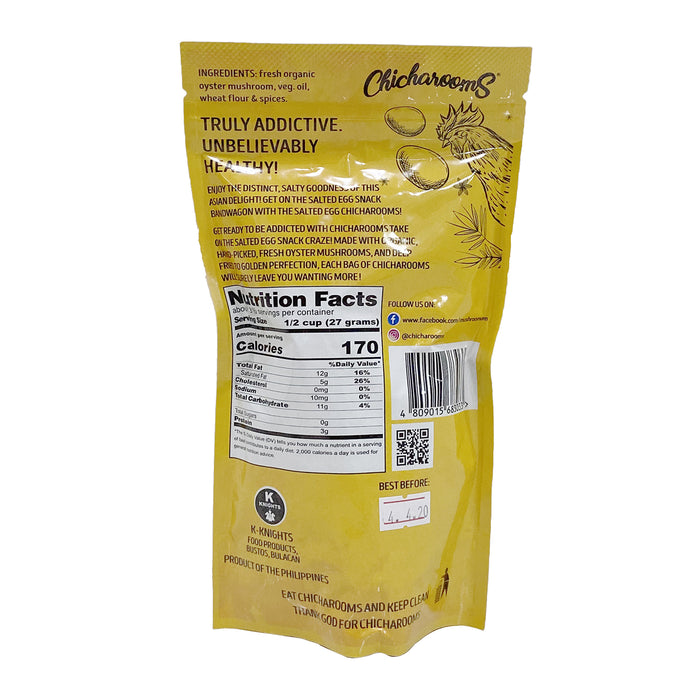Chicharooms Salted Egg Crispy Mushroom Chips 100g