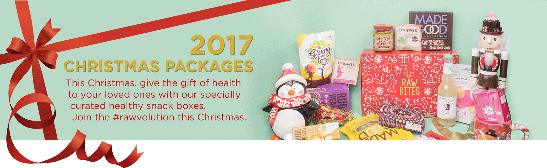 Raw Bites 2017 Christmas packages