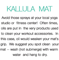 Kallula Mat Care Instructions