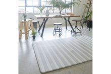 Pet-friendly rug - Cloudmat Rug - Grey Watercolor Stripe