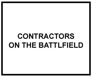 FM 3-100.21: CONTRACTORS ON THE BATTLFIELD