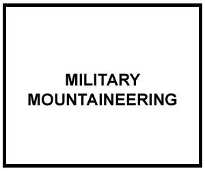 FM 3-97.61: MILITARY MOUNTAINEERING