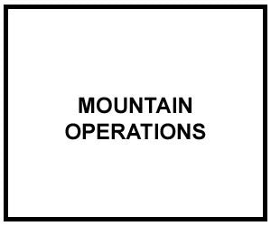 FM 3-97.6: MOUNTAIN OPERATIONS
