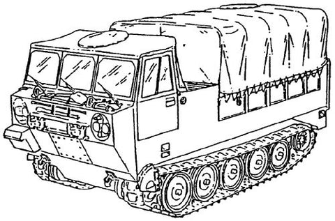 M548 6-Ton Full-Tracked Cargo Carrier