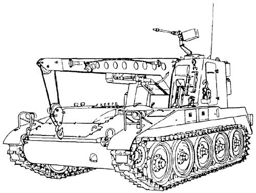 M578 Light Armored Full-Tracked Recovery Vehicle