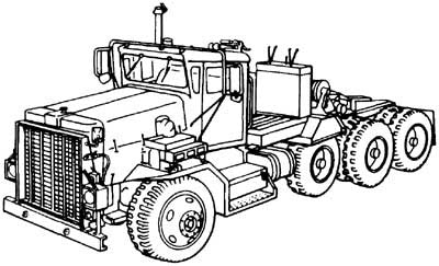 M911 Commercial Heavy Equipment Transporter Tractor