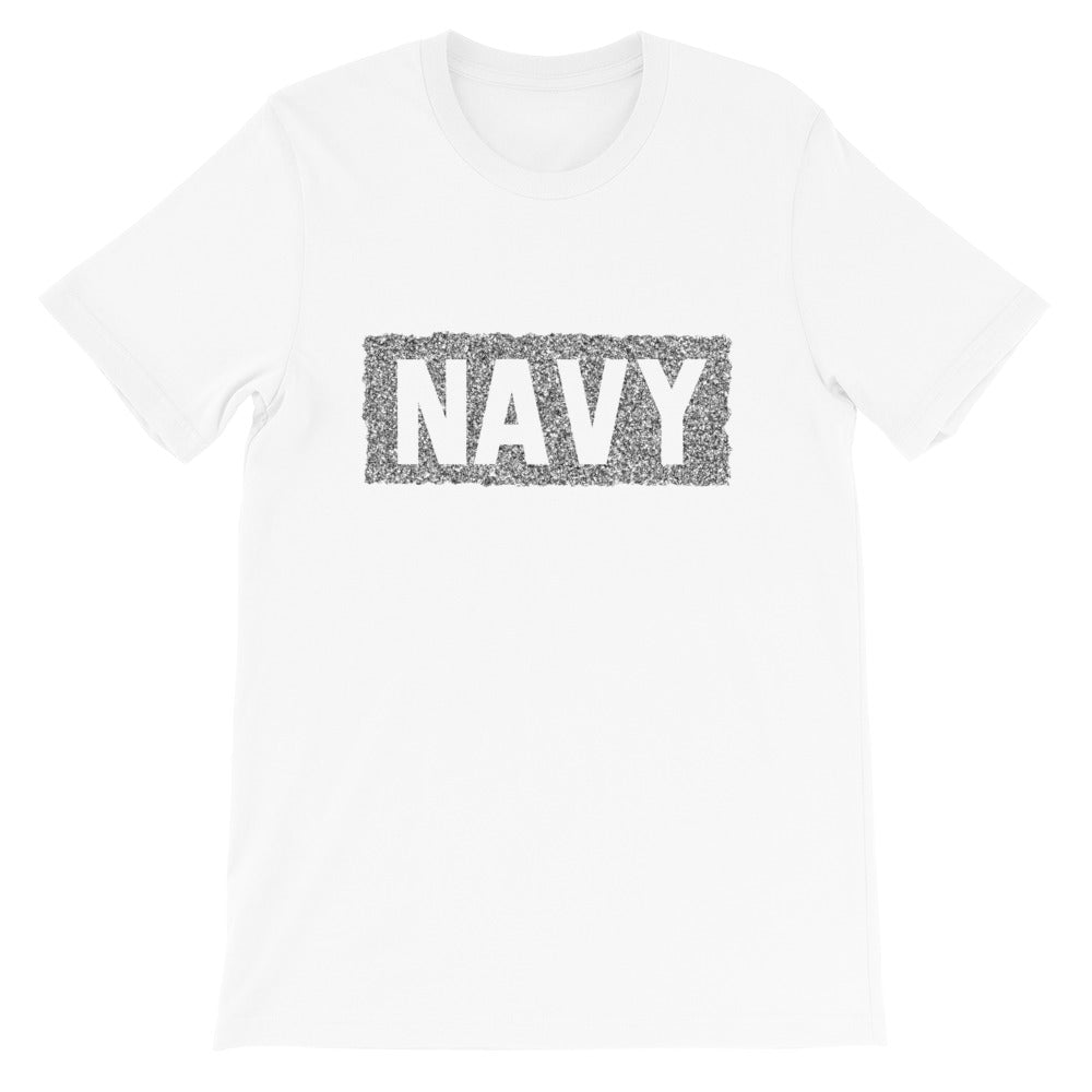 NAVY Chaos Pattern | Short-Sleeve Unisex T-Shirt