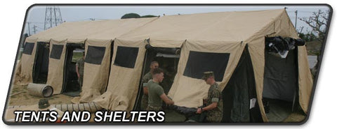 Army Shelters and Tents