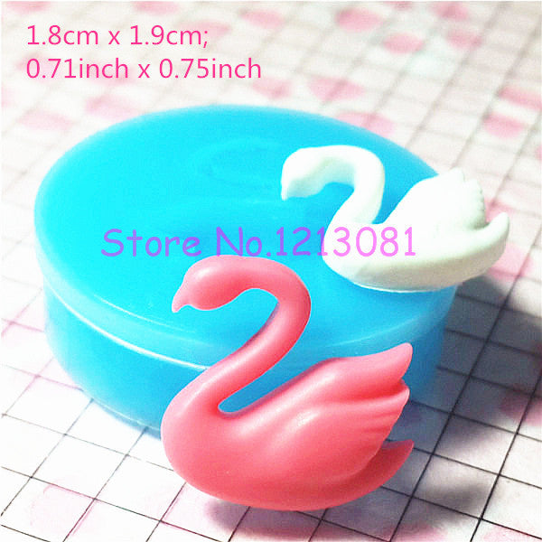 D002 moule fimo moule silicone animal cygne (18x19mm)