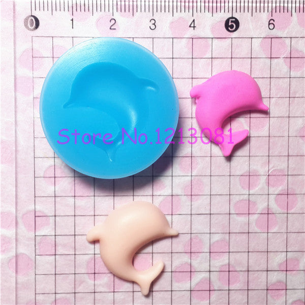 D003 moule fimo moule silicone animal dauphin (26x25mm)