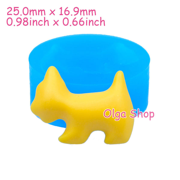 D005 oule fimo moule silicone animal cygne chien (25x16.9mm)