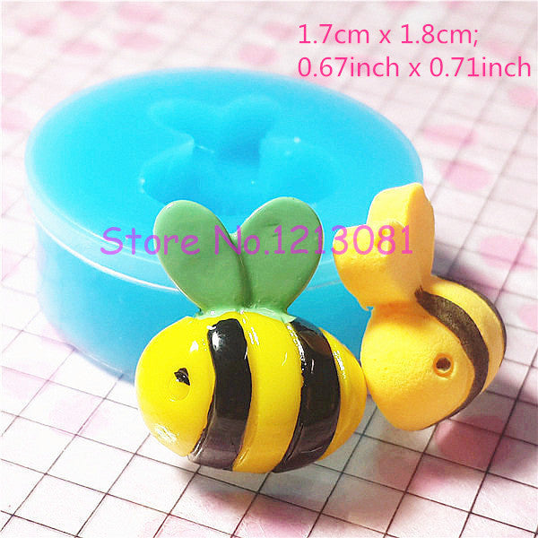 D008 moule fimo moule silicone animal abeille (17x18mm)