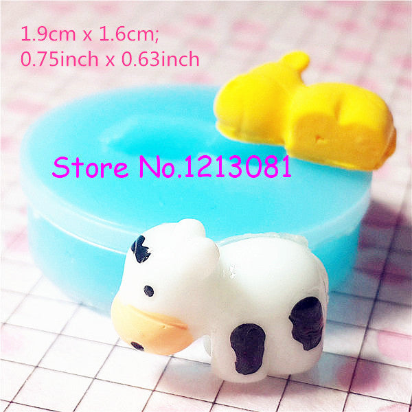 D010 moule fimo moule silicone animal vache (19.9x16mm)