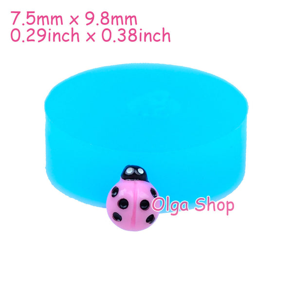 D012 moule fimo moule silicone animal coccinelle (7.5x9.8mm)