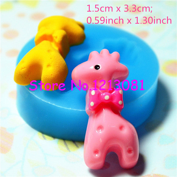D014 moule fimo moule silicone animal giraffe (15x33mm)