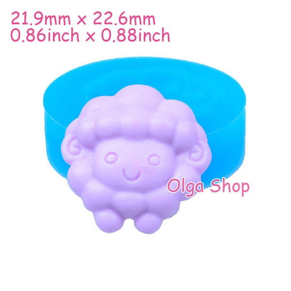 D017 moule fimo moule silicone animal mouton (21.9x22.6mm)