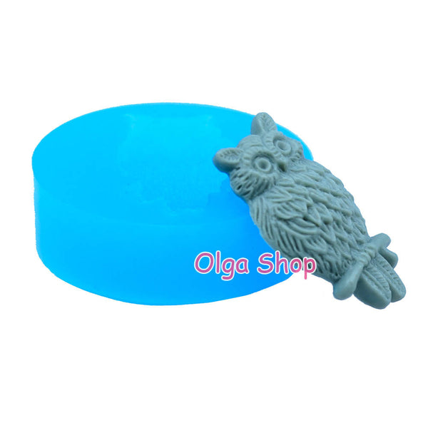 D018 moule fimo moule silicone animal chouette (13.8x23.7mm)