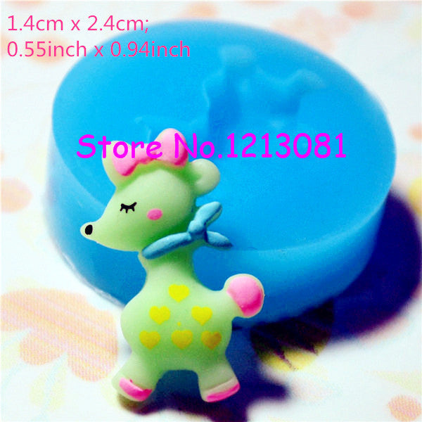 D019 moule fimo moule silicone animal giraffe (14x24mm)