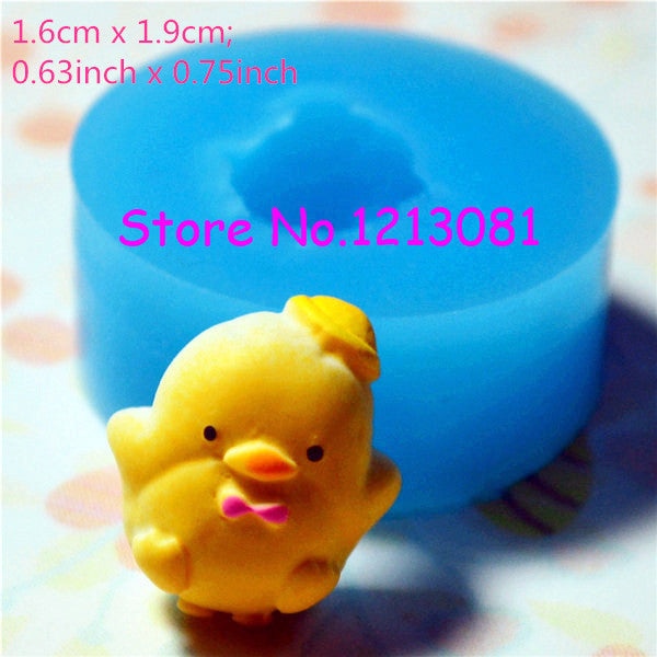 D020 moule fimo moule silicone animal poussin (16x19mm)