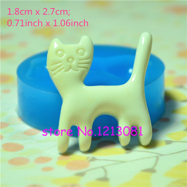 D027 moule fimo moule silicone animal (18x27mm)