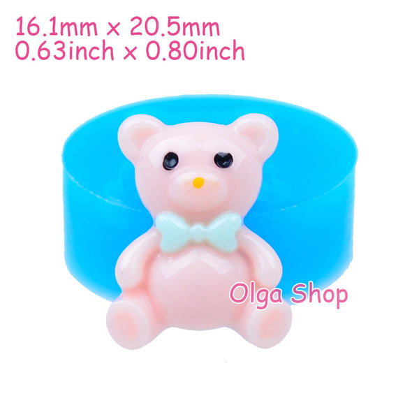 D038 moule fimo moule silicone animal nounours (16.1x20.5mm)