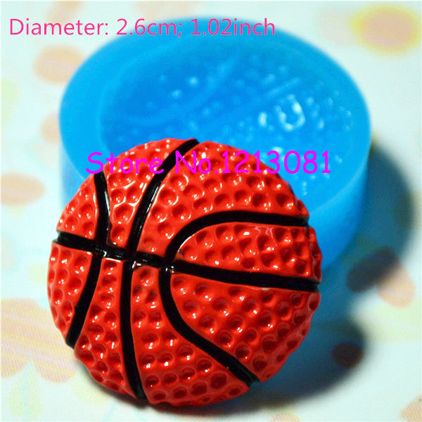 F038 moule fimo moule silicone ballon de basketball (26mm)