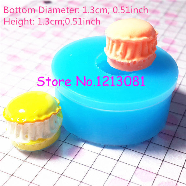 G017 moule fimo moule silicone macaron (13mm)
