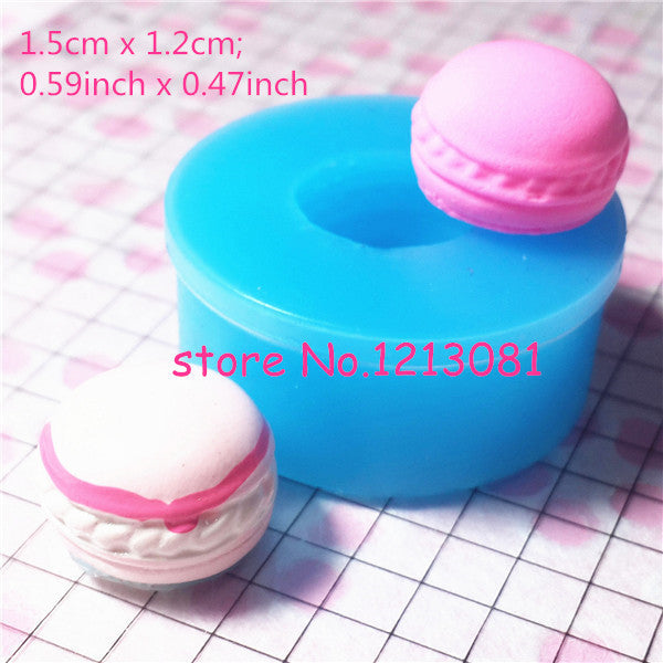 G021 moule silicone moule fimo macaron 15x12mm