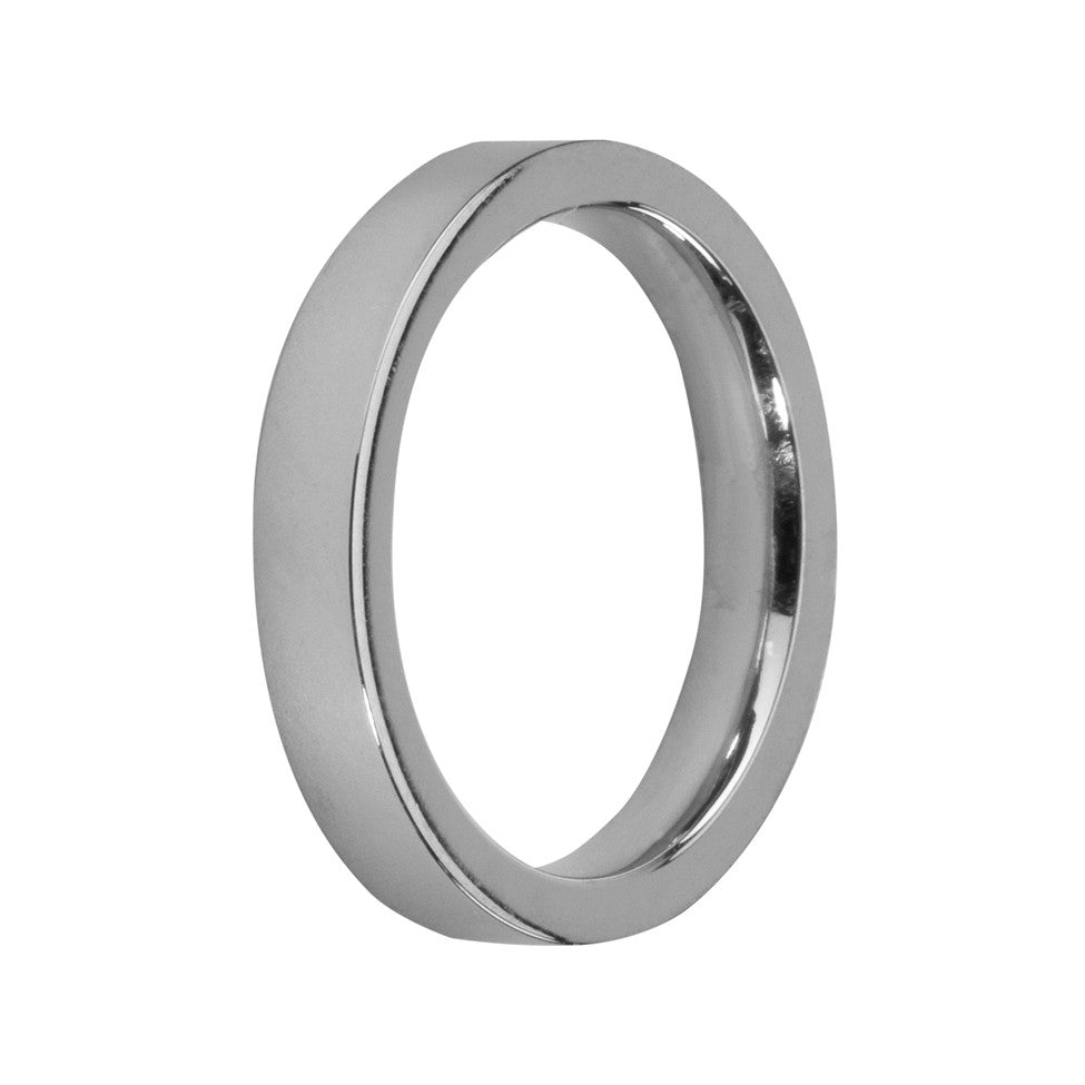 MelanO stainless steel gloss plain flat ring - Ellimonelli